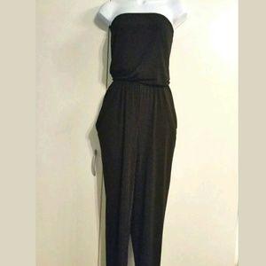 Michael Kors jumpsuit Black Strapless with pockets